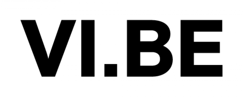 VI.BE logo black